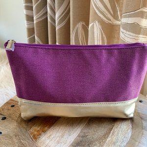 Sephora Purple and Gold Makeup Bag NWOT
